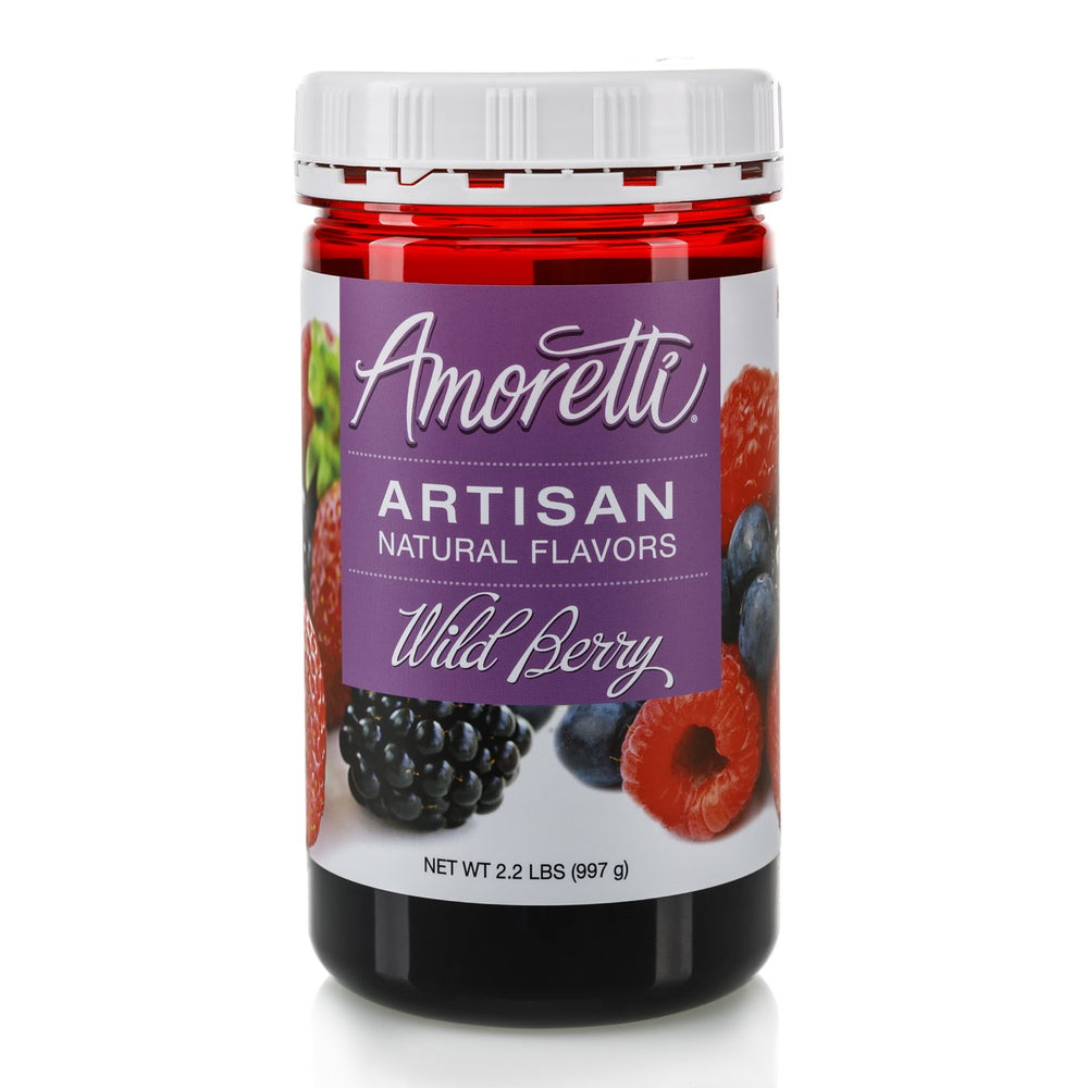Natural Wild Berry Artisan Flavor by Amoretti