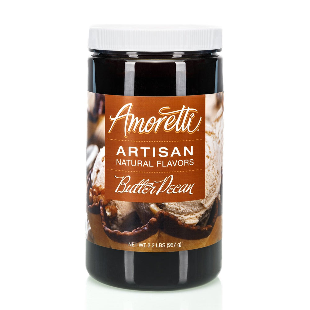 Natural Butter Pecan Artisan Flavor by Amoretti