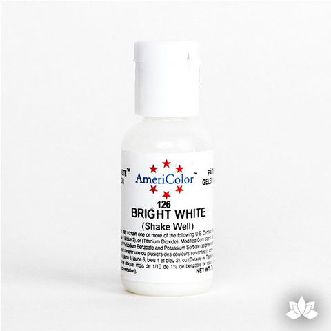 Bright White AmeriColor Soft Gel Paste Food Color is perfect for coloring buttercream, icing, and fondant for decorated cakes and cupcakes. Wholesale edible food coloring.