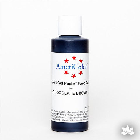 Chocolate Brown Soft Gel Paste 4.5 oz