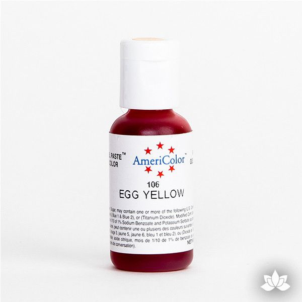 Egg Yellow AmeriColor Soft Gel Paste Food Color is perfect for coloring buttercream, icing, and fondant for decorated cakes and cupcakes. Wholesale edible food coloring.