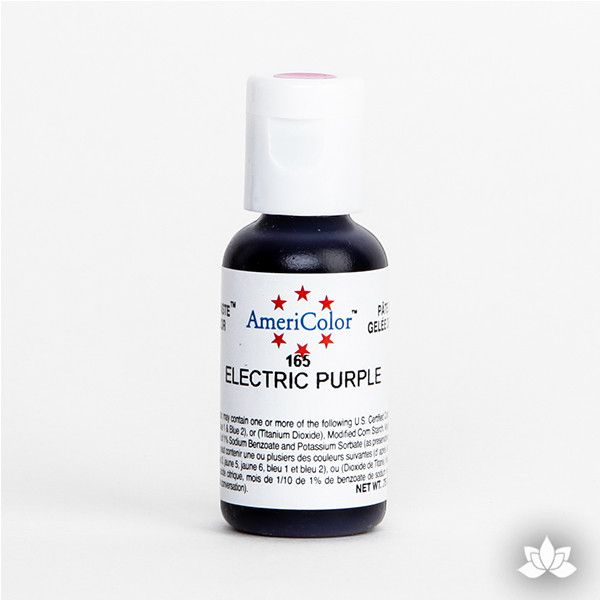 Electric Purple AmeriColor Soft Gel Paste Food Color is perfect for coloring buttercream, icing, and fondant for decorated cakes and cupcakes. Wholesale edible food coloring.