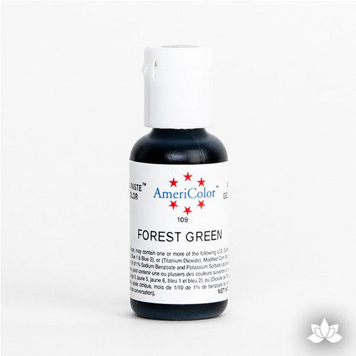 Forest Green AmeriColor Soft Gel Paste Food Color is perfect for coloring buttercream, icing, and fondant for decorated cakes and cupcakes. Wholesale edible food coloring.