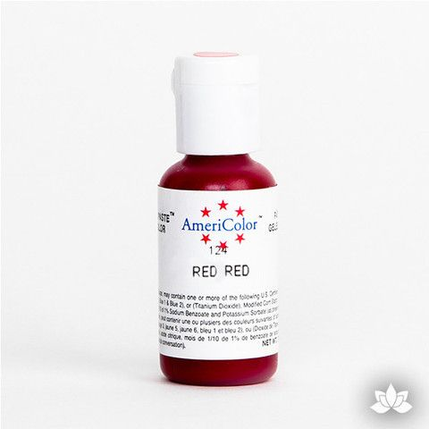 Red Red AmeriColor Soft Gel Paste Food Color is perfect for coloring buttercream, icing, and fondant for decorated cakes and cupcakes. Wholesale edible food coloring.