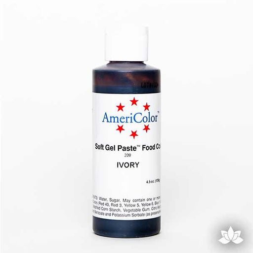 Ivory AmeriColor Soft Gel Paste Food Color 4.5 oz is perfect for coloring buttercream, icing, and fondant for decorated cakes and cupcakes. Wholesale edible food coloring.
