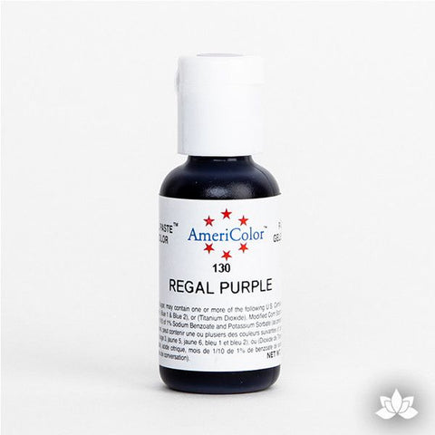 Regal Purple AmeriColor Soft Gel Paste Food Color is perfect for coloring buttercream, icing, and fondant for decorated cakes and cupcakes. Wholesale edible food coloring.