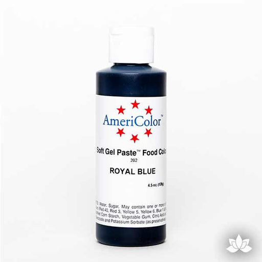 Royal Blue AmeriColor Soft Gel Paste Food Color 4.5 oz is perfect for coloring buttercream, icing, and fondant for decorated cakes and cupcakes.