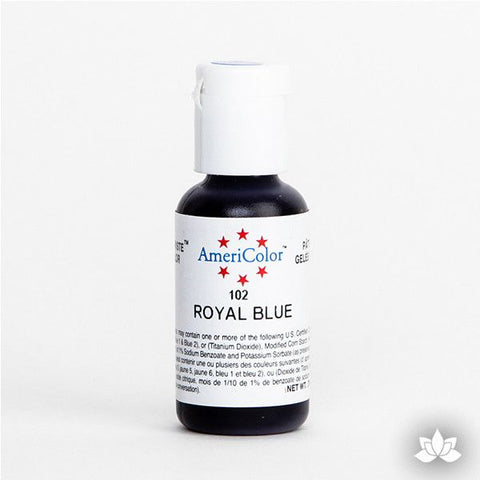 Royal Blue AmeriColor Soft Gel Paste Food Color is perfect for coloring buttercream, icing, and fondant for decorated cakes and cupcakes. Wholesale edible food coloring.
