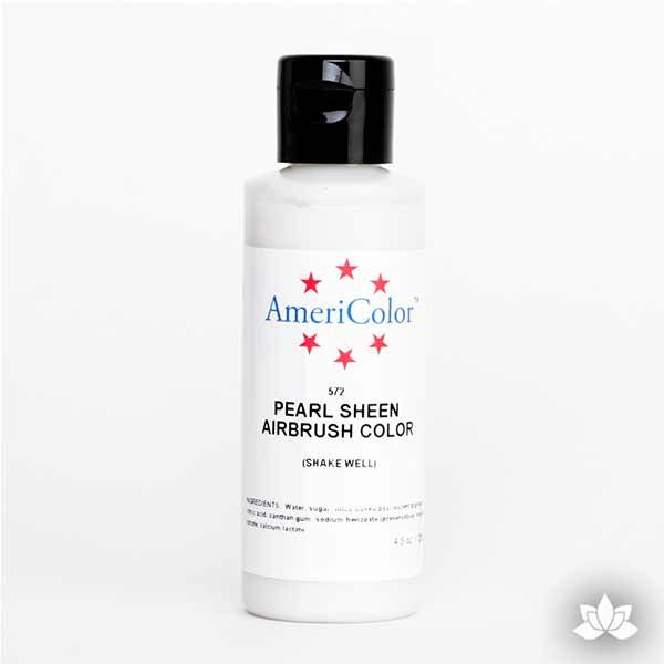 Pearl Sheen AmeriMist Air Brush Color 4.5 oz is a highly concentrated air brush color perfect for coloring non-dairy whipped icing, toppings, rolled fondant, gum paste flowers, and buttercream. Wholesale edible air brush color.