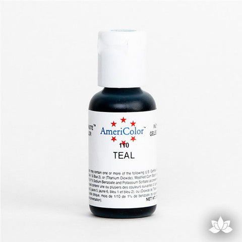Teal AmeriColor Soft Gel Paste Food Color is perfect for coloring buttercream, icing, and fondant for decorated cakes and cupcakes. Wholesale edible food coloring.