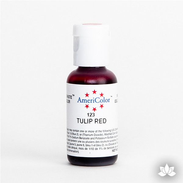 Tulip Red AmeriColor Soft Gel Paste Food Color is perfect for coloring buttercream, icing, and fondant for decorated cakes and cupcakes. Wholesale edible food coloring.