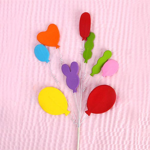 Colorful Balloon Appliques with Curlicues