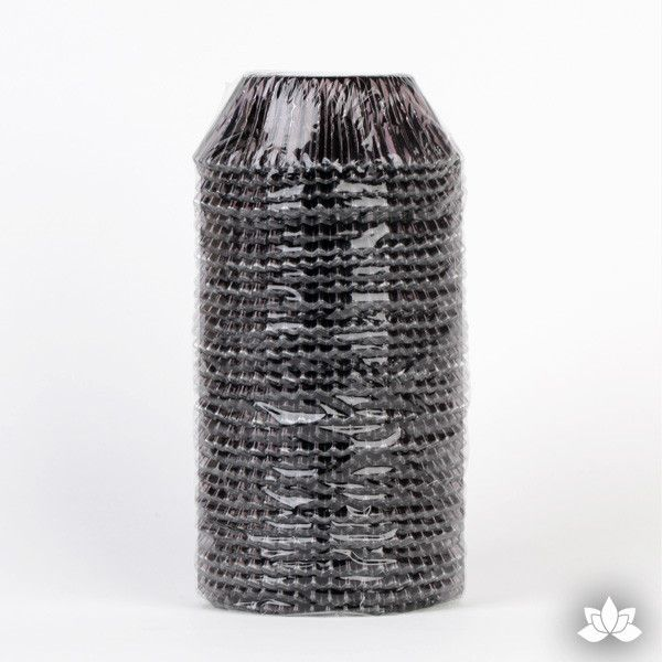 500 Black Foil Baking Cups perfect for baking cupcakes & cake decorating cupcakes with fondant & icing. 500 baking cups. Wholesale cupcake supplies.