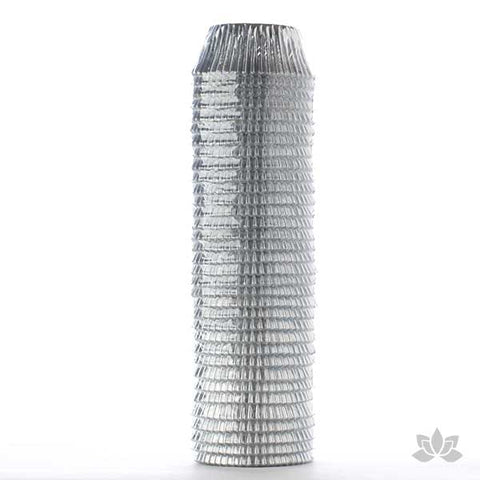 500 Silver Foil Baking Cups perfect for baking cupcakes & cake decorating cupcakes with fondant & icing. 500 baking cups. Wholesale cupcake supplies. Silver Foil Baking Cups