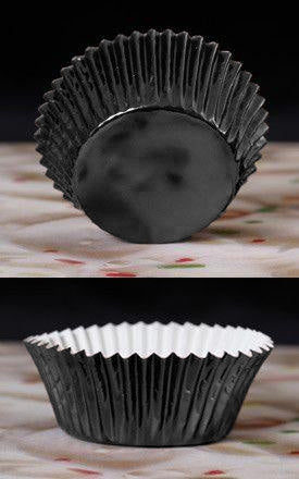 Foil Baking Cups - Black