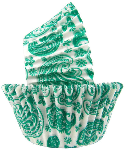 Paisley Baking Cups - Green