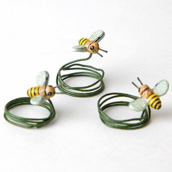Ceramic Bees - Yellow