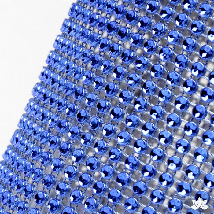 Add bling to your cake with Glam Ribbon Diamond Cake Wraps. Perfect for cake decorating rolled fondant cakes & wedding cakes. Cake decoration. Diamond Mesh. Blue Glam Ribbon - Cake Wrap