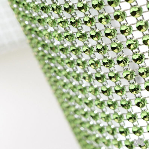 Green Glam Ribbon - Cake Wrap Add bling to your cake with Glam Ribbon Diamond Cake Wraps. Perfect for cake decorating rolled fondant cakes & wedding cakes. Cake decoration. Diamond Mesh.