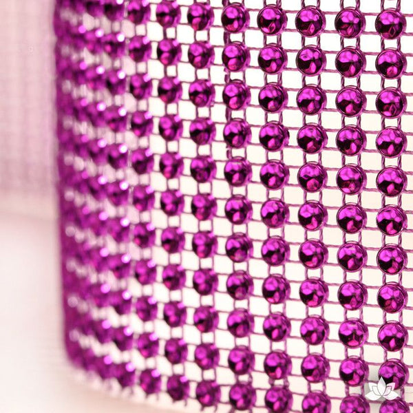 Purple Glam Ribbon Cake Wrap perfect diamond border for any cake and makes cake decorating very easy and simple.  Wholesale cake bling.