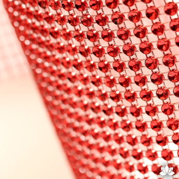 Red Glam Ribbon - Cake Wrap Add bling to your cake with Glam Ribbon Diamond Cake Wraps. Perfect for cake decorating rolled fondant cakes & wedding cakes. Cake decoration. Diamond Mesh.