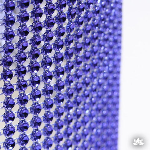 Regal Purple Glam Ribbon - Cake Wrap Add bling to your cake with Glam Ribbon Diamond Cake Wraps. Perfect for cake decorating rolled fondant cakes & wedding cakes. Cake decoration. Diamond Mesh.