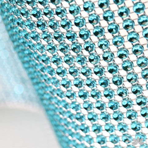 Teal Glam Ribbon - Cake Wrap Add bling to your cake with Glam Ribbon Diamond Cake Wraps. Perfect for cake decorating rolled fondant cakes & wedding cakes. Cake decoration. Diamond Mesh.