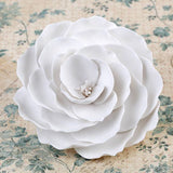 Gumpaste Rose Sugarflower cake topper perfect for cake decorating fondant cakes & wedding cakes.  Wholesale cake supply. Edible Cake Decorations. Caljava