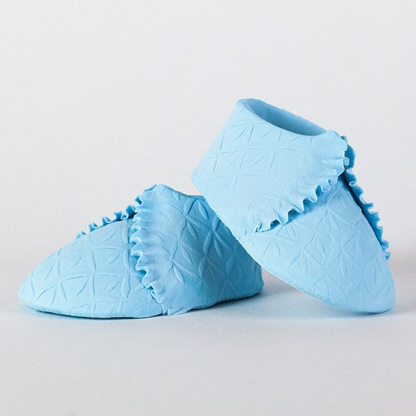 Knit Baby Booties - Blue — CaljavaOnline