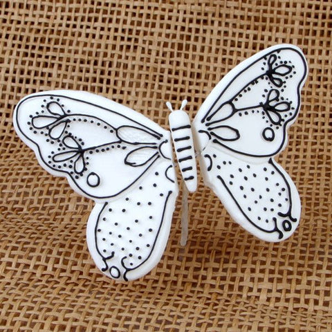 Large Butterflies with Black Piping