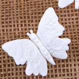Large Embossed Butterflies - White