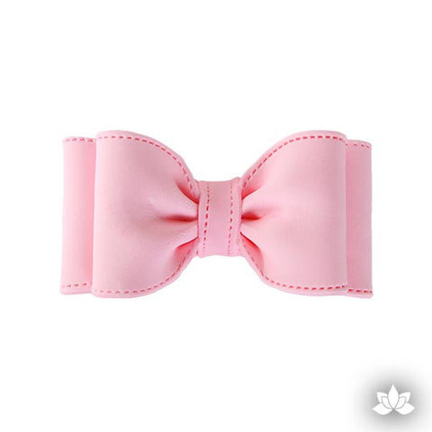 Large Double Loop Bow Tie - Pink