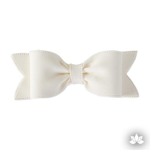 Large Bow Tie w/ Tail - White