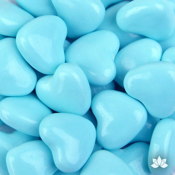 Light Blue Candy Hearts - 130g