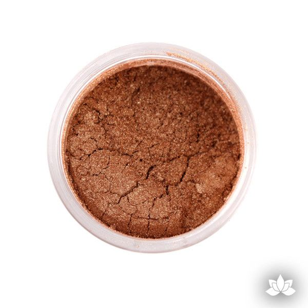 Bronze Luster Dust Colors food coloring perfect for cake decorating fondant cakes, cupcakes, cake pops, wedding cakes, and sugarflowers. Dusting color. Cake supply.