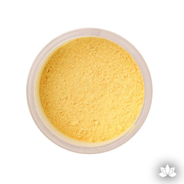 Buttercup Petal Dust color food coloring perfect for cake decorating & coloring gumpaste sugar flowers.