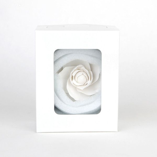 White Camellia Gum Paste Sugarflower cake topper great for cake decorating wedding cakes. | CaljavaOnline.com