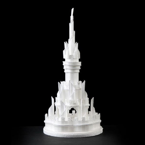 Castle Cake Topper perfect for cake decorating princess cakes & fondant cakes. Lightweight, white, made of Styrofoam. Princess Cake. Castle Cake. Frozen Cake. Wholesale Cake Decoration. Styrofoam Castle Cake Topper