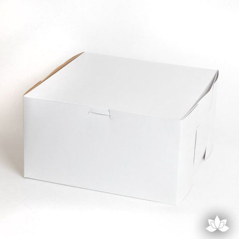 "10"" Cake Box perfect for carrying cakes & for transporting.  White Cake Box.  Cake Supply."