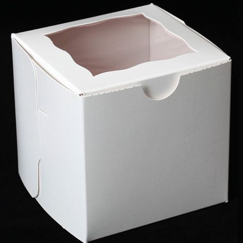 White single disposable cupcake box. Disposable cupcake boxes. Transport & display cupcakes in beautiful cupcake boxes with window. Party favor box. Cookie Box. Dessert Box. Gift Box.