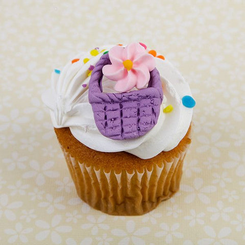 Edible Gumpaste Fondant Baskets for Cake and Cupcake decor