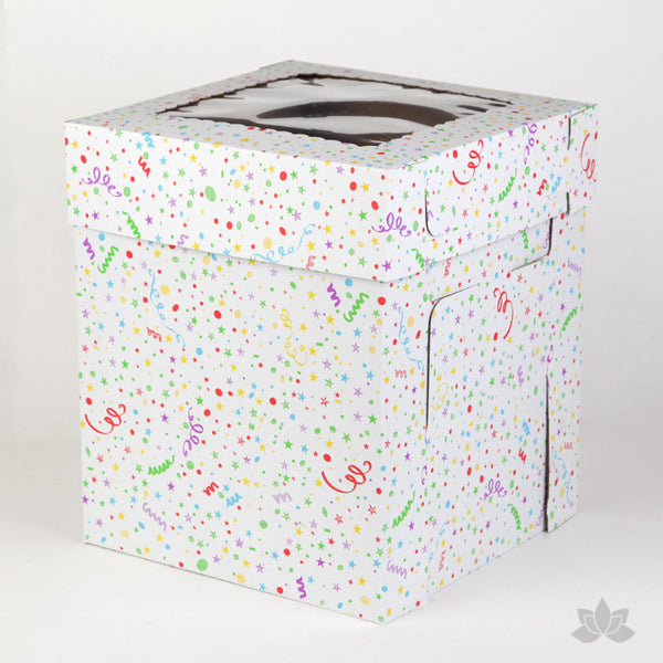 Tall Window Cake Box - Confetti