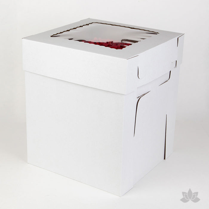 Tall Window Cake Box - White