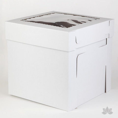 "Transfer your two tiered or 3D cakes safely with a Tall 12"" Window Cake Box"