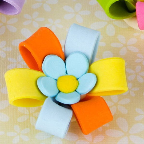 Colorful Cupcake Bows with Blossom Center