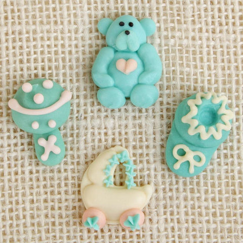 Royal Icing Baby Set - Teal