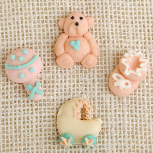 Royal Icing Baby Set - Peach