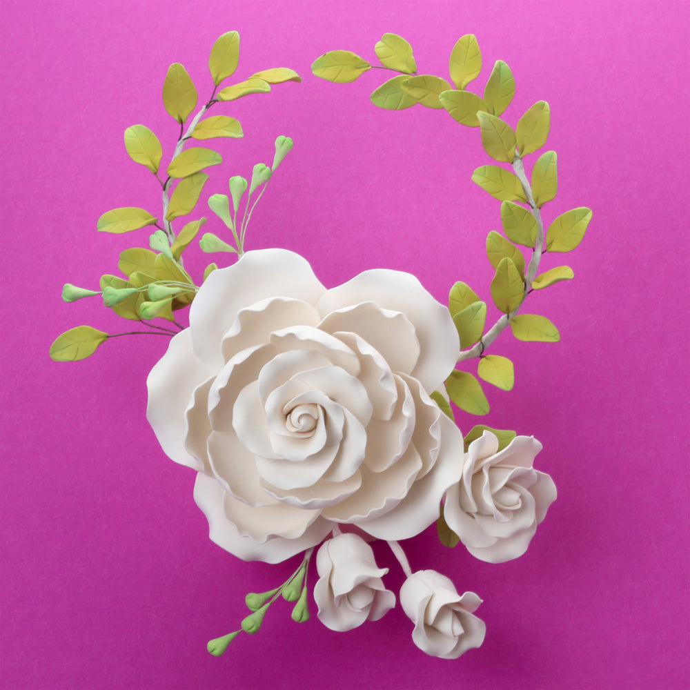 Rose Sugarflower cake topper great for cake decorating your own cakes and wedding cakes.  Readymade to place on your cake.