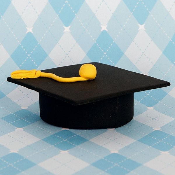 Edible Fondant Large Graduation Cap CupCake Toppers perfect for christmas cakes & cupcakes.