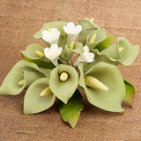 Medium Calla Lily Cake Topper - Green